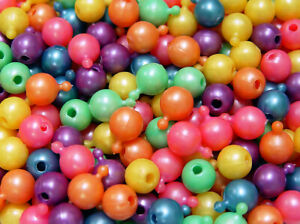 Pop Snap It Novelty Beads 12mm - 144pc Multi Pearl Colors made in USA