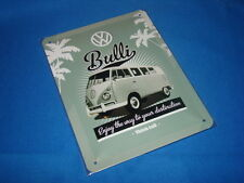 VW Bulli - Splitty Campervan Metal Retro Wall Plaque Sign 15x20cm Ideal Gift