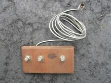 Vintage Rock Amp 3 switch Guitar Effects Pedal all wood 1960 1970