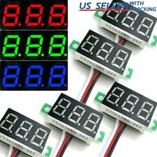 5pcs Dc 0 30v 3 Wire Voltmeter 3 Digit Led Display Volt Meter Voltage Tester