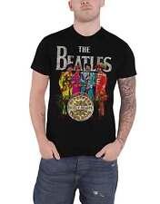 Camiseta oficial de The Beatles Sgt Peppers Lonely Hearts banda logotipo nuevo para hombre negro