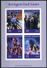More details for madagascar 2019 mnh avengers endgame thor captain america hulk 4v impf ms stamps