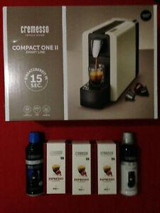 Mit 48 Kapseln + Zubehör:Neue,unbenutzte Cremesso Compact One II Kaffeemaschine