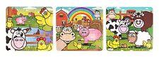 12 x Farm Animals Jigsaws - Party Bag Fillers Loot Toys