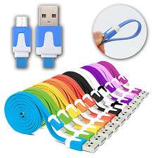 CABLE PLANO USB / MICRO USB PARA SAMSUNG HTC LG DATOS CARGADOR COLORES 1M 2M 3M