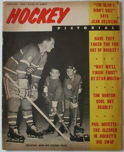 Stan Mikita Gordie Howe Signed Feb 1964 Hockey Pictorial Ken Wharram Blackhawks