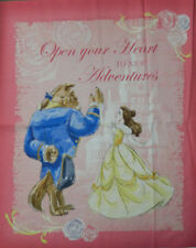 Patchwork Quilting Sewing Fabric Disney BEAUTY & THE BEAST Panel 90x110cm New...