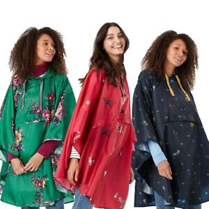 Joules Womens Milport Waterproof Packable Poncho