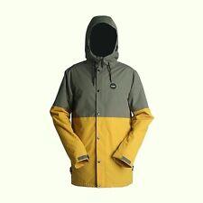 RIDE Snowboards Men's HAWTHORNE Snow Jacket - Gunmetal/Gold - Size Small - NWT