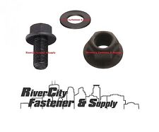 (10 of each) 1/2-13x1-1/2 Grade 8 Flange Bolt With Lock Nuts & 20 Flat Washers