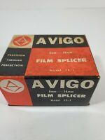 Vintage AVIGO Model FS-1 Film Splicer for 8mm & 16mm Film With Box