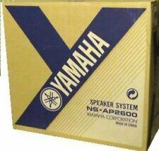 5 YAMAHA NS-AP2600S BLACK SATELLITE SURROUND SPEAKERS (4 SATELLITE, 1 CENTER)