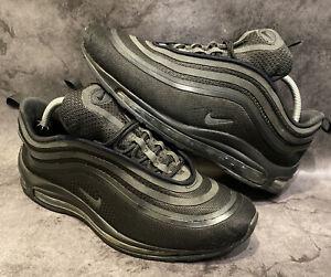 Nike Genuine Men's Air Max 97 Triple Black Reflective Trainers UK9 US10