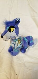 """Neopets ELECTRIC LUPE Plush Toy Stuffed Animal 6.5"""" KEYQUEST Ser 5 NEW w/code!!"""