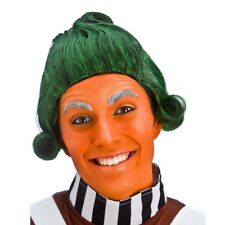 Green Factory Worker Wig Adult Fancy Dress Oompa Loompas Film Story Book Day