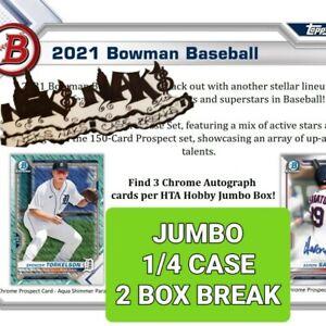 CINCINNATI REDS 2021 BOWMAN BASEBALL JUMBO 1/4 CASE 2 BOX BREAK #18