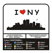 Adesivi I LOVE New York Manhattan NY Brooklyn - Wall stickers - versione UNICA