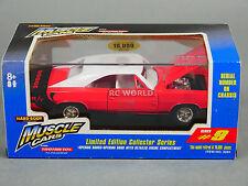 1/24 Tootsie Giocattolo Dodge Charger R/T Rossi con / Bianca Top il Pressofuso #
