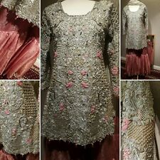 pakistani elan heavily embroided gharara dress ready to wear size S/M