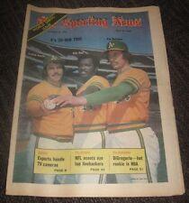 1973 Catfish Hunter - The Sporting News Magazine - Oakland A's No Label HOF