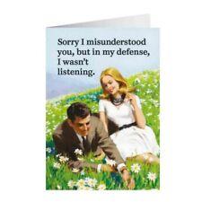"Retro Humour ""Sorry I Misunderstood"" Greetings Card Birthday Gift Occasion Funny"
