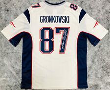"NE Patriots Rob Gronkowski Signed Nike Jersey ""Still Here"" - Beckett BAS Witness"
