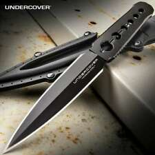 Undercover CIA Stinger Dual Edge Dagger Spike Full Tang Boot Knife UC3344 Kydex