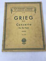 Schirmer's Piano Sheet Music VTG Library of Musical Classics Grieg Op 16