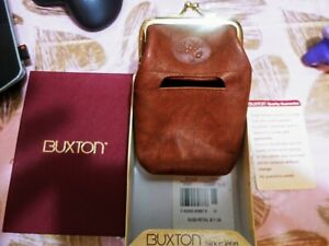 Buxton Heiress Mahogany Leather Cigarette Case Handbags and Accessories