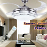 "42"" LED Invisible Ceiling Fan Light Dining Room Chandelier Lamp Remote Control ."