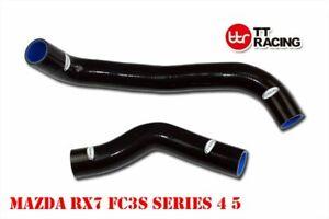 Mazda RX-7 S4 S5 FC3S 1.3L 1986-1991 silicone radiator hose kit - Black