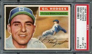 1956 Topps Baseball #145 Gil Hodges PSA 6.5