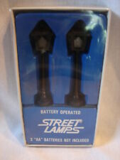 Vintage Miniature Village SET OF 2 STREET LAMPS New in Box