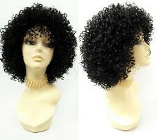 Black Spiral Curls Heat Resistant Fashion Wig Big Short Very Curly Afro-like