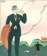 Edouard Halouze. L'Elégant. Pochoir. Les Feuillets d'Art. 1920