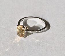 Miore Damen-Ring 18 Karat 750 Weißgold Citrin ca.1,15ct 12 Brillanten, M0524CWM
