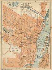 ALBANY antique town city plan. New York State. BAEDEKER 1904 old map