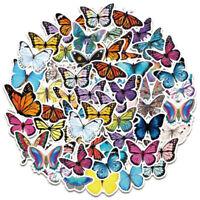 50Pcs Butterfly Stickers Waterproof Laptop Skateboard Luggage Guitar Stickers