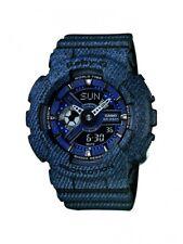 Casio Damen-Armbanduhr Baby-G Digital Quarz Jeans-Look schwarz-blau BA-110DC-2A1