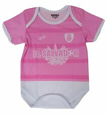 El Salvador Soccer Pink Baby Outfit Jumpsuit Mameluco Size 3 to 12 months