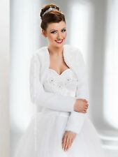 Wedding Ivory Faux Fur Jacket Bridal Wrap Shrug Bolero Coat 12 Ivory