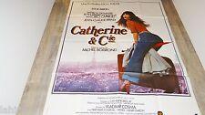jane birkin CATHERINE ET Cie ! dewaere  affiche cinema vintage 1975