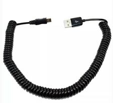 2M Spiral Coiled USB 2.0 Male A to Mini B Extension Cable Adapter