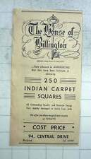 1951 The House Of Billington, Damaged Indian Carpets Central Drive Blackpool