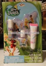 4pc DISNEY FAIRIES Cosmetic Set/Lot NAIL POLISH+ 2x LIPGLOSS+ COSMETIC BAG/CASE