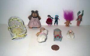 Vintage DOLLHOUSE LOT - Miniature Artist TEDDY BEAR TOYS DOLLS KEWPIE ACCESSORY