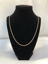 """14K YELLOW GOLD SPIRAL ROPE CHAIN NECKLACE, 30"""" INCHES LONG 11.27 GRAMS"""