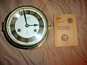 SCHATZ SEA QUARTZ SHIP'S BELL CLOCK WEST GERMANY BATTERY OPERATED FOR PARTS