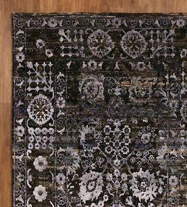 Natural Distressed 5'7''x7'10'' ft Persian Antique Style Hand Knotted Area Rugs