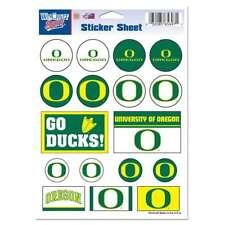 Oregon Ducks Vinyl Sticker Sheet - 17 Stickers